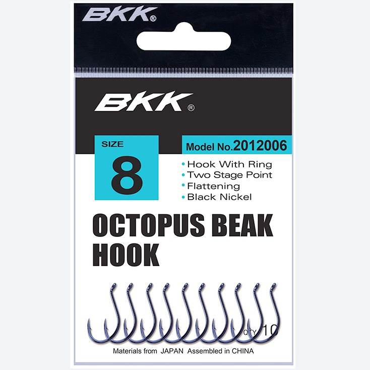 Salt water Octopus beak bait fishing hook, bkk hook