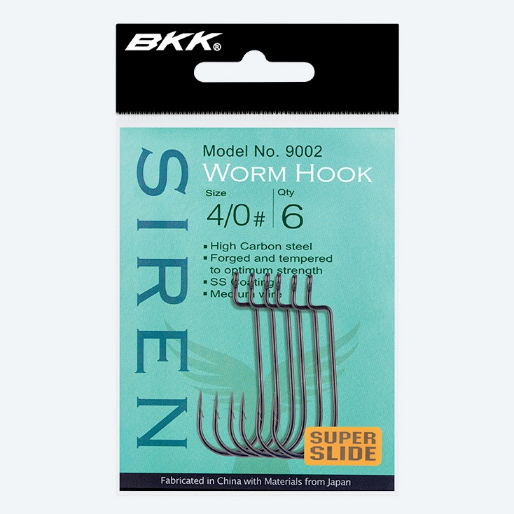 Freshwater worm hook, soft plastic lures rigged weedless-style hook, medium size predators hook, zander hook, perch hook, pike hook, bass hook, bkk hook