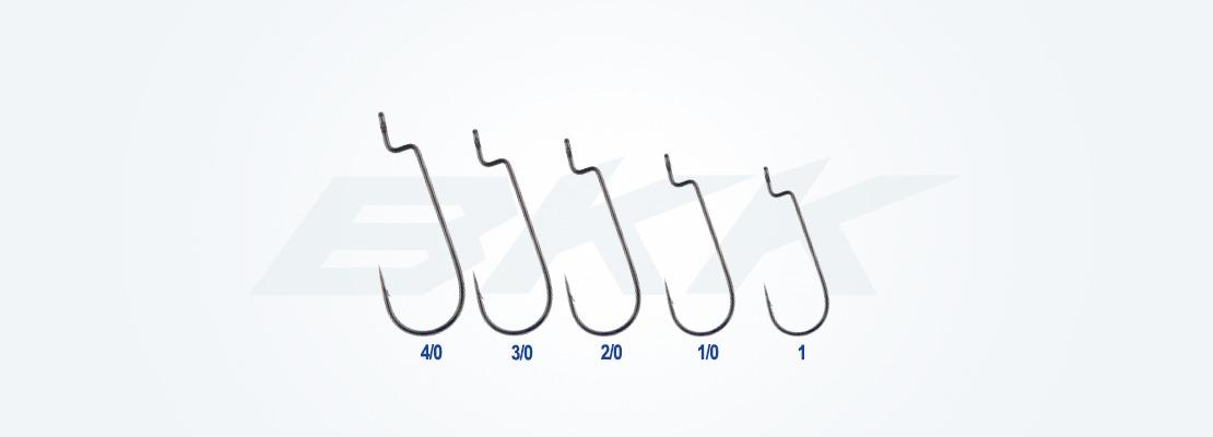 Freshwater worm hook, soft plastic lures rigged weedless-style hook, medium size predators hook, zander hook, perch hook, pike hook, bass hook, bkk hook